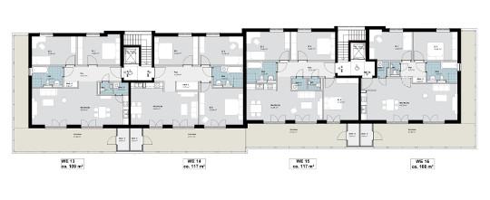 Grundrisse Staffelgeschoss Wohnungen